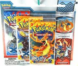 Pokemon XY Flashfire Trading Card Game Booster Pack Pin Set- Charizard