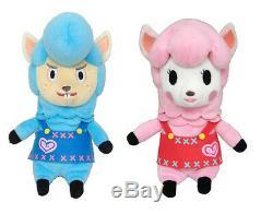 REAL Set of 2 Little Buddy Animal Crossing New Leaf 8 Cyrus & Lisa Plush Doll