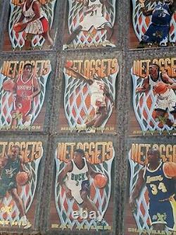 SET (20) 1996-97 EX-2000 NET ASSETS Die-Cut MICHAEL JORDAN Ray Allen Iverson RC