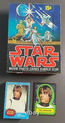 STAR WARS Series 1 to 5 TOPPS Wax Gum Card Full Sets & Display Boxes VINTAGE