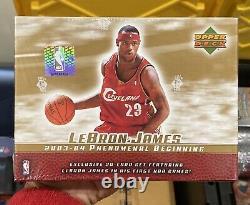 Sealed 2003-04 Upper Deck Basketball LeBron James Phenomenal Beginning Box