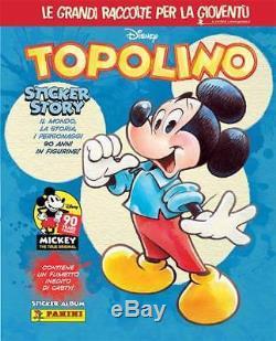 TOPOLINO Sticker Story Album Panini + SET COMPLETO 275 Figurine 36 CARDS nuovo