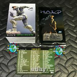 TOPPS HALO 2007 COMPLETE TRADING CARD SET 90-CARDS +10X WRAPPERS bungie xbox-360