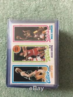 Topps Basketball 1980-81 Complete Set In Top Loaders Magic Bird RC