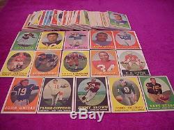 Topps Football Card Set 1958 (Jim Brown Rookie)EX Set
