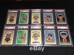 Topps Garbage Pail Kids 2nd Series Psa 10 Gem Mint (84) Card Matte Back Set Rare