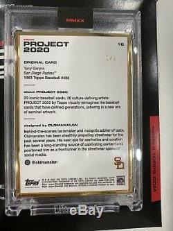 Topps Project 2020 GOLD FRAME 1/1 #16 1983 Tony Gwynn by Oldmanalan SP Padres
