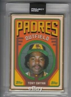 Topps Project 2020 GOLD FRAME 1/1 #24 Tony Gwynn by Grotesk RC San Diego Padres