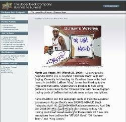 Ultimate LeBron James ONLY Inscription in the Set 08 USA Gold Auto Exquisite 1/1