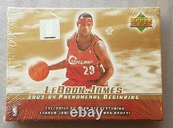 Upper Deck Lebron James Phenomenal Beginning Basketball Set Box 2003/04
