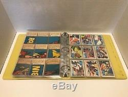 Vintage Batman 3 Ring Binder With 3 Complete Sets of 1966 Topps Batman Cards