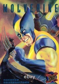 X-men 1995 Fleer Ultra Sinister Observations Chromium Insert Card Set 1 To 10